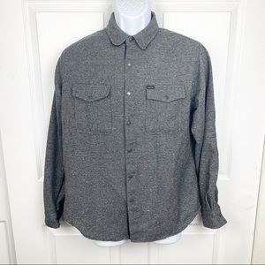 Matix Wool Blend Long Sleeve Snap Button Down